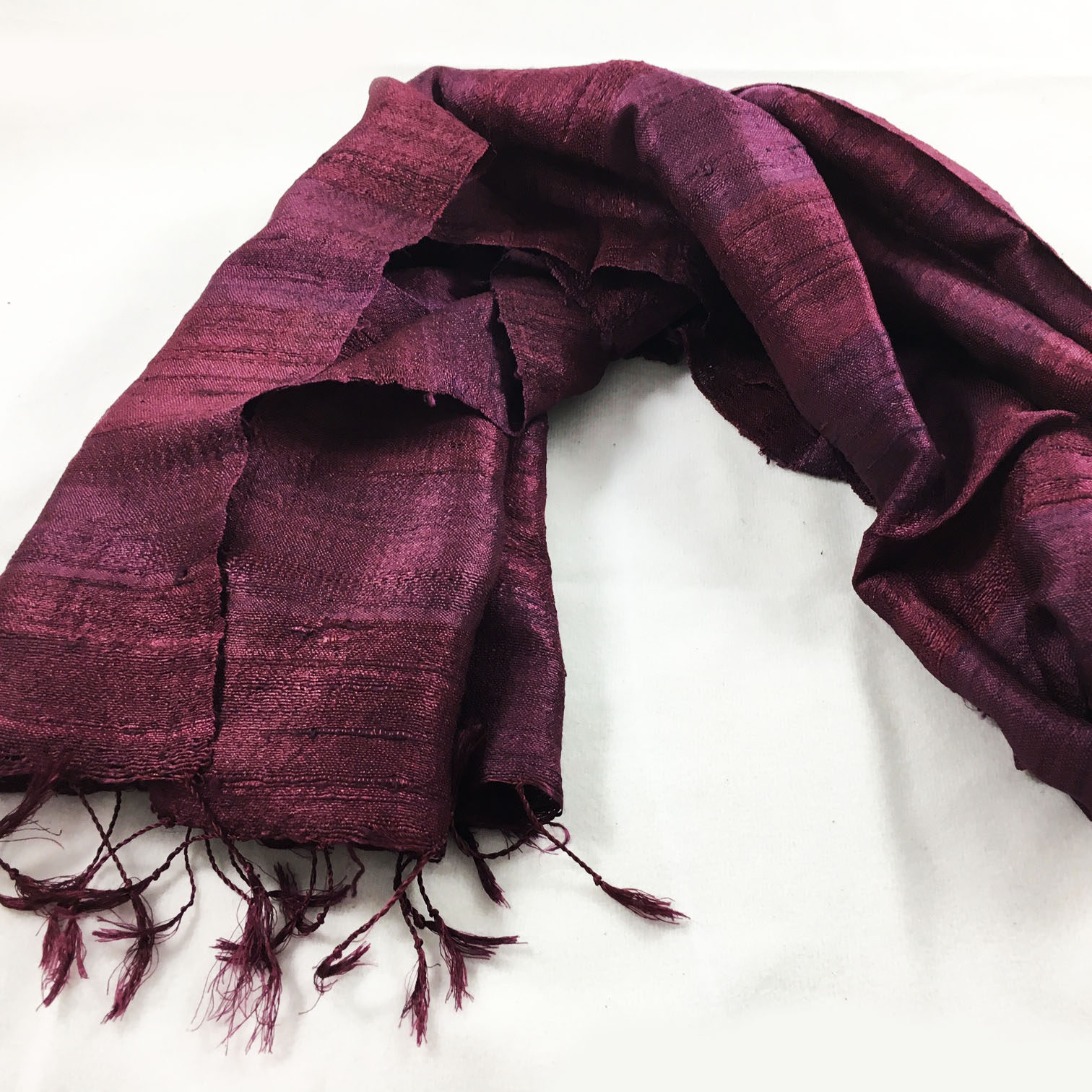 wine red silk shawl