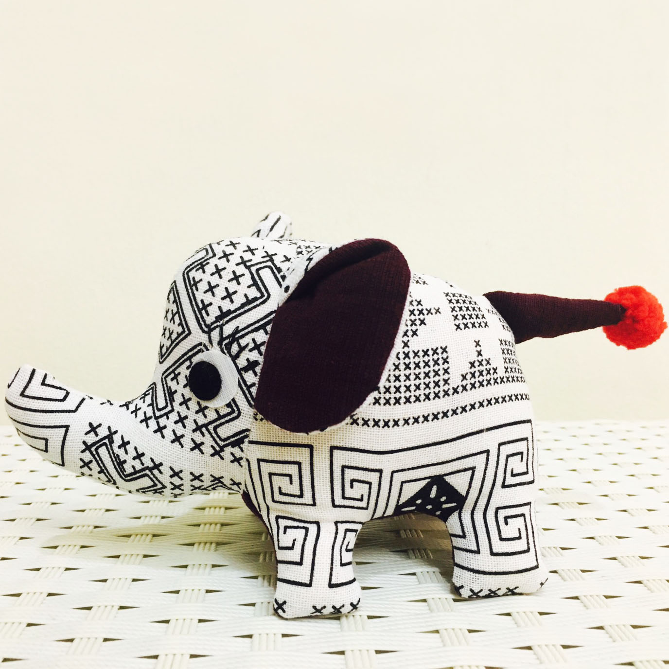 stuffed cotton elephant
