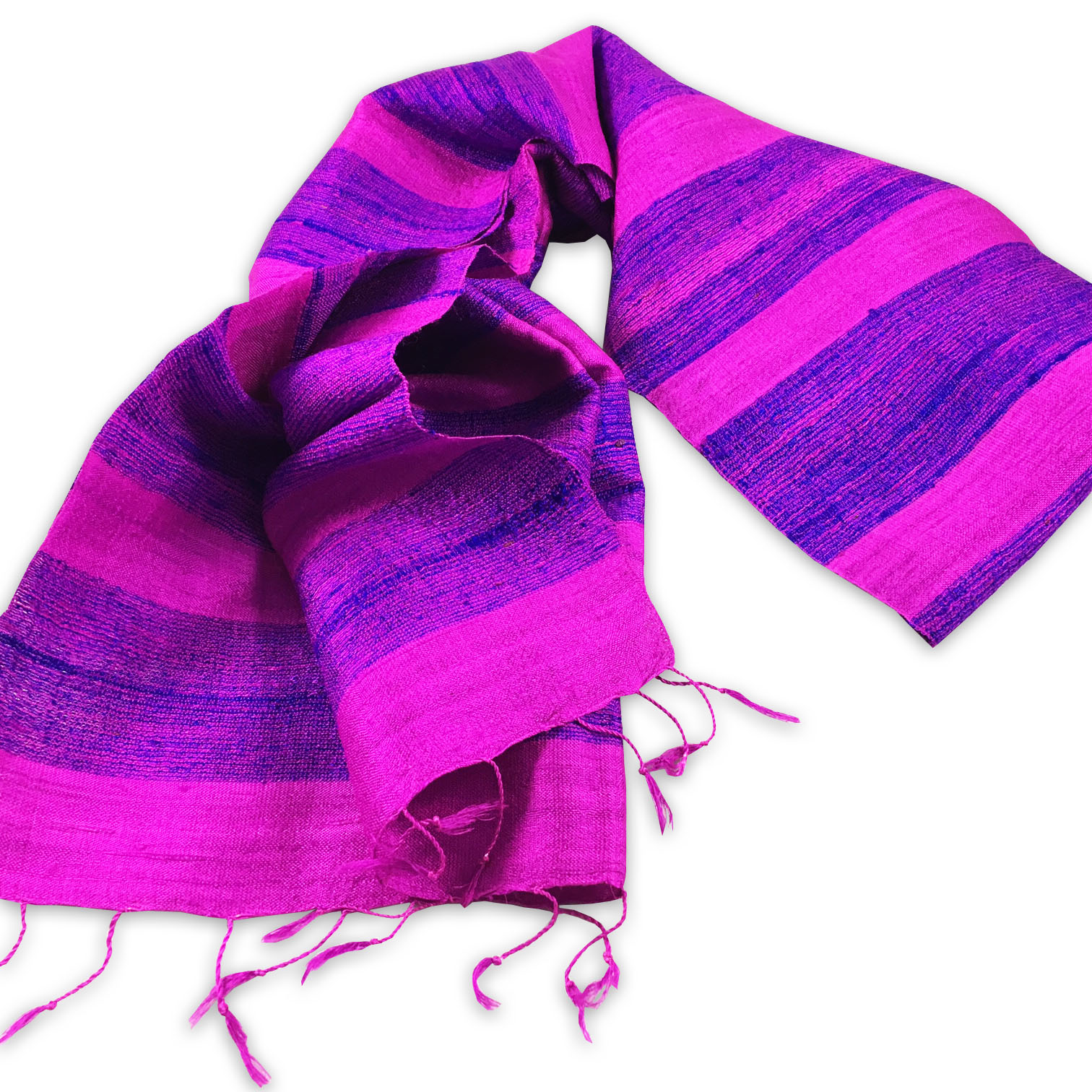 Violet Thai silk shawl