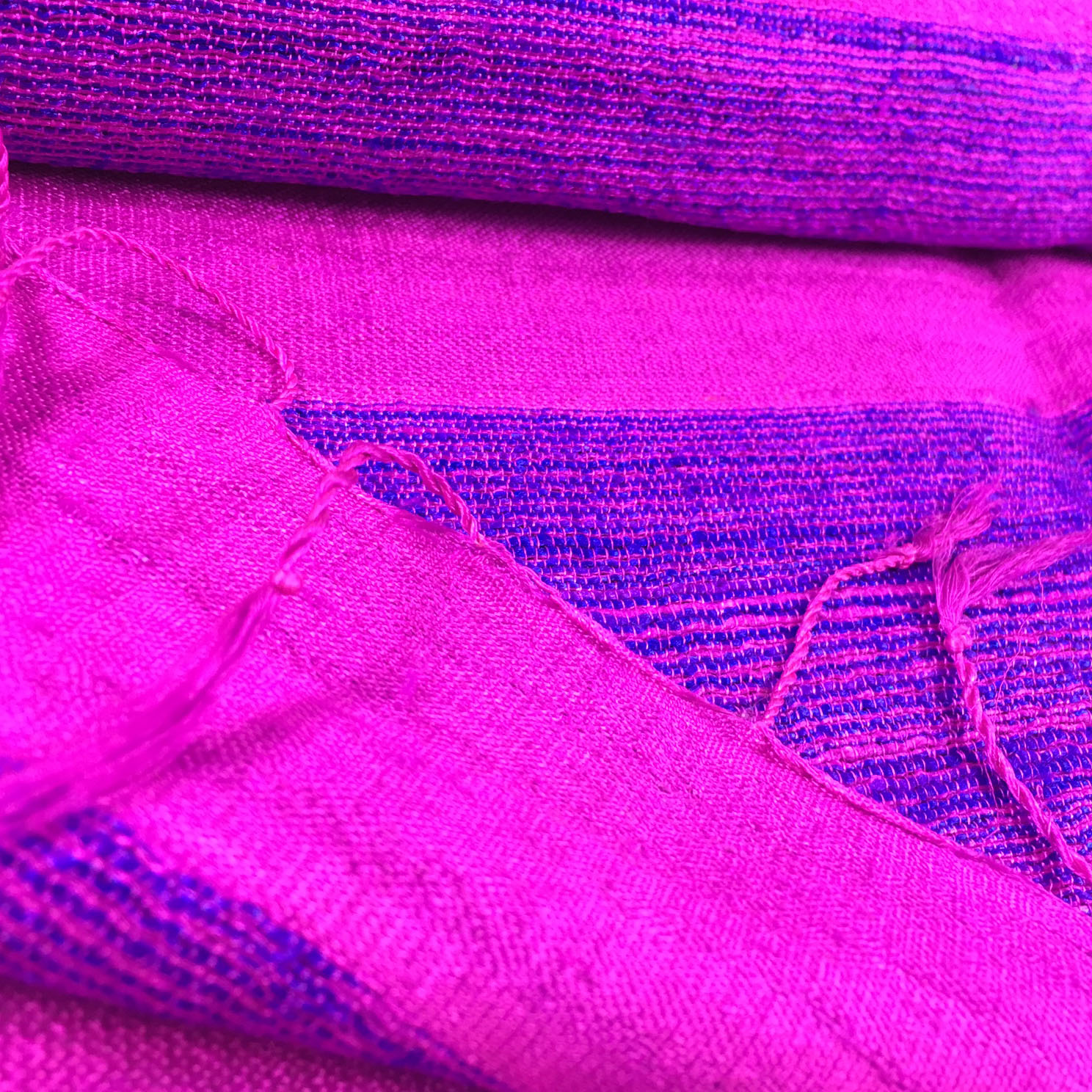 Violet scarves from Chiang Mai, Thailand