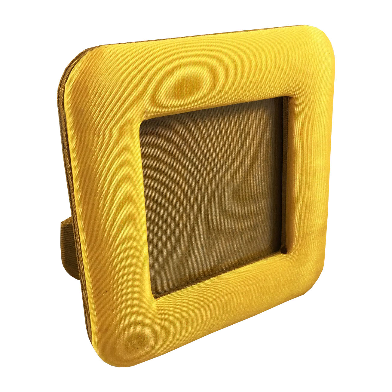 Yellow silk picture frame