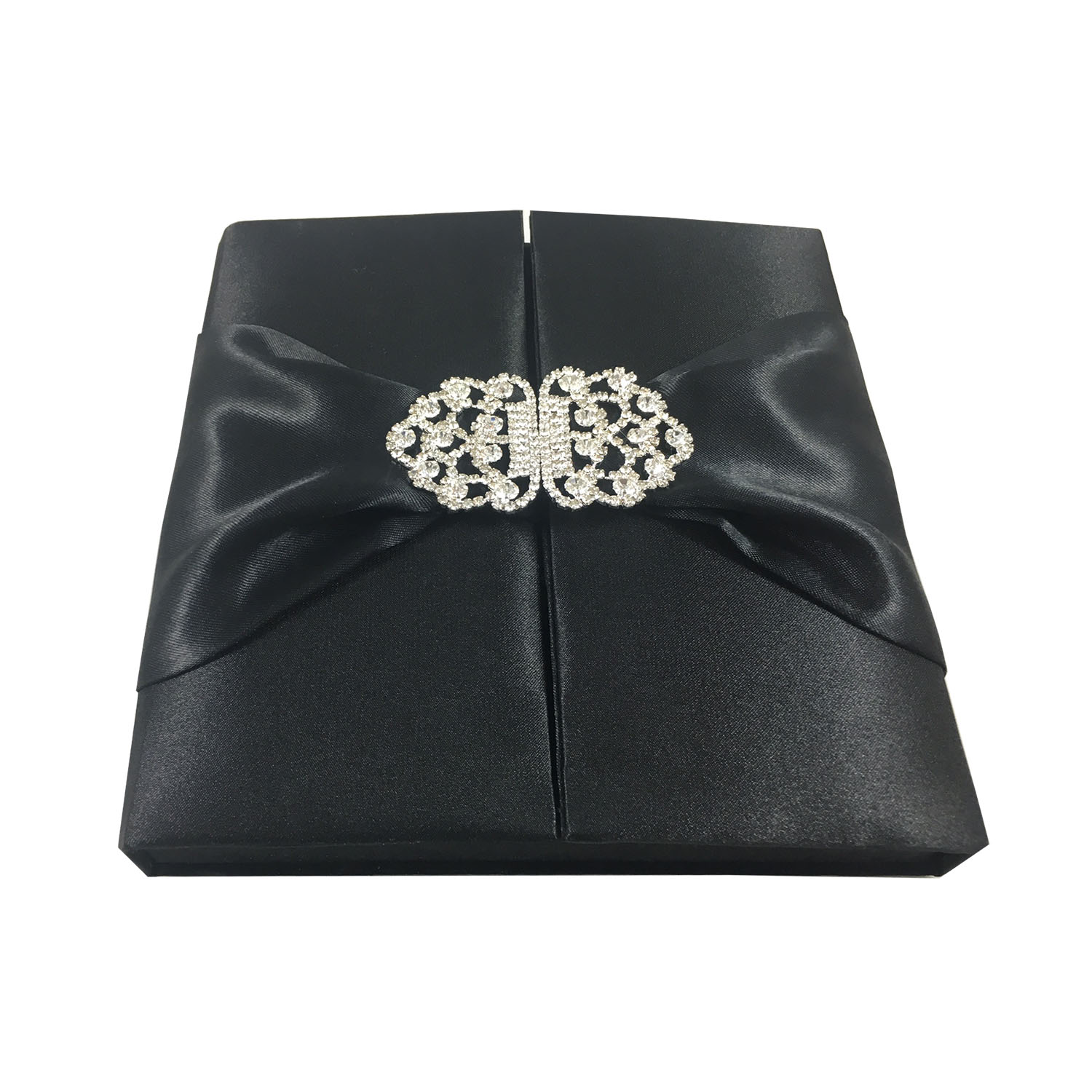 Black silk box for wedding invitations