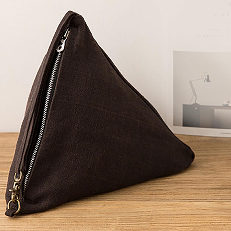 brown zippered hemp bag from Thailand