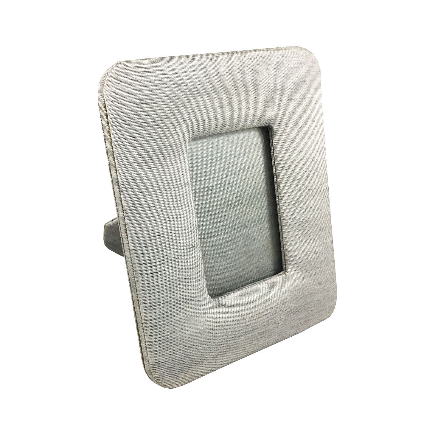 Grey silk photo frame