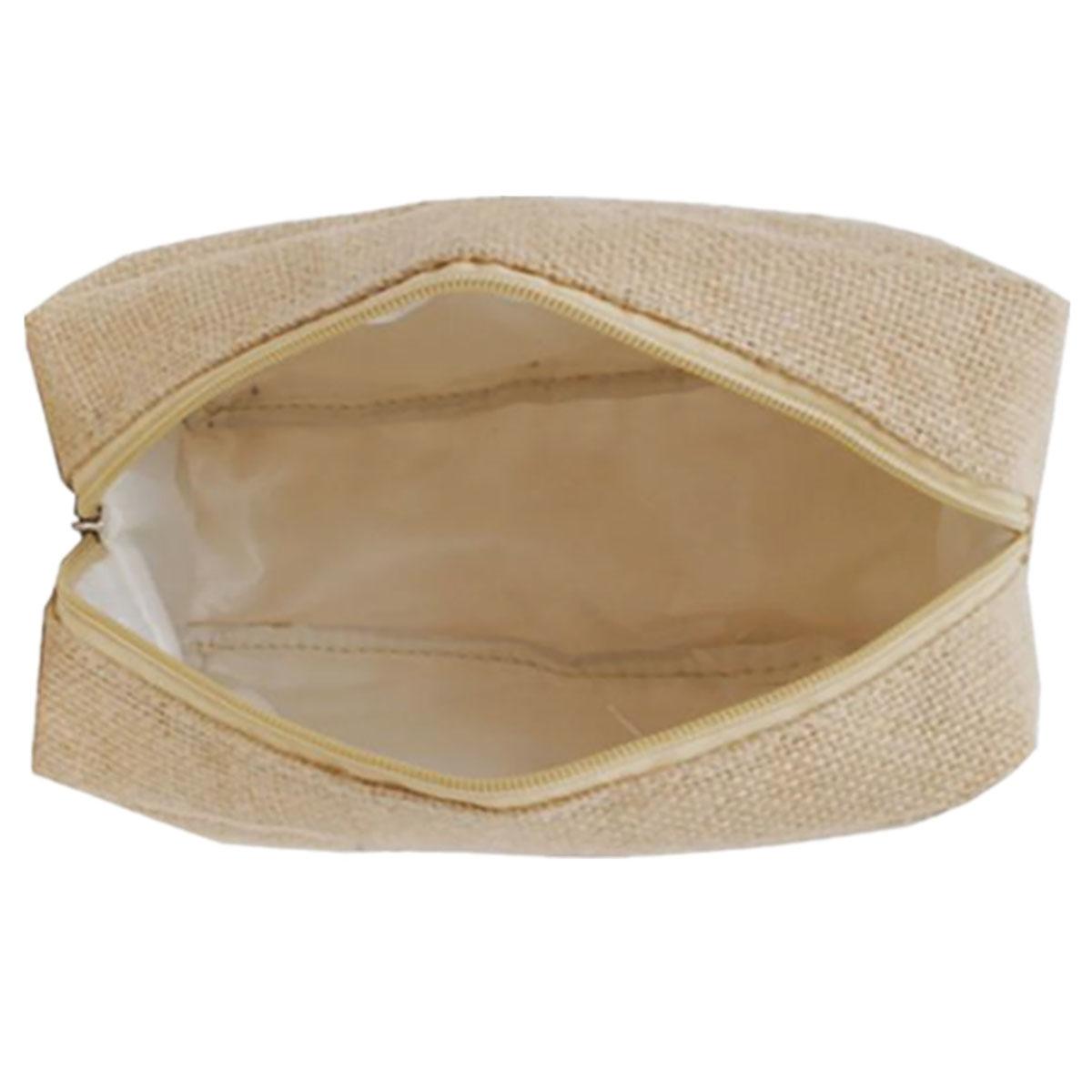 hemp bag with zipper closure