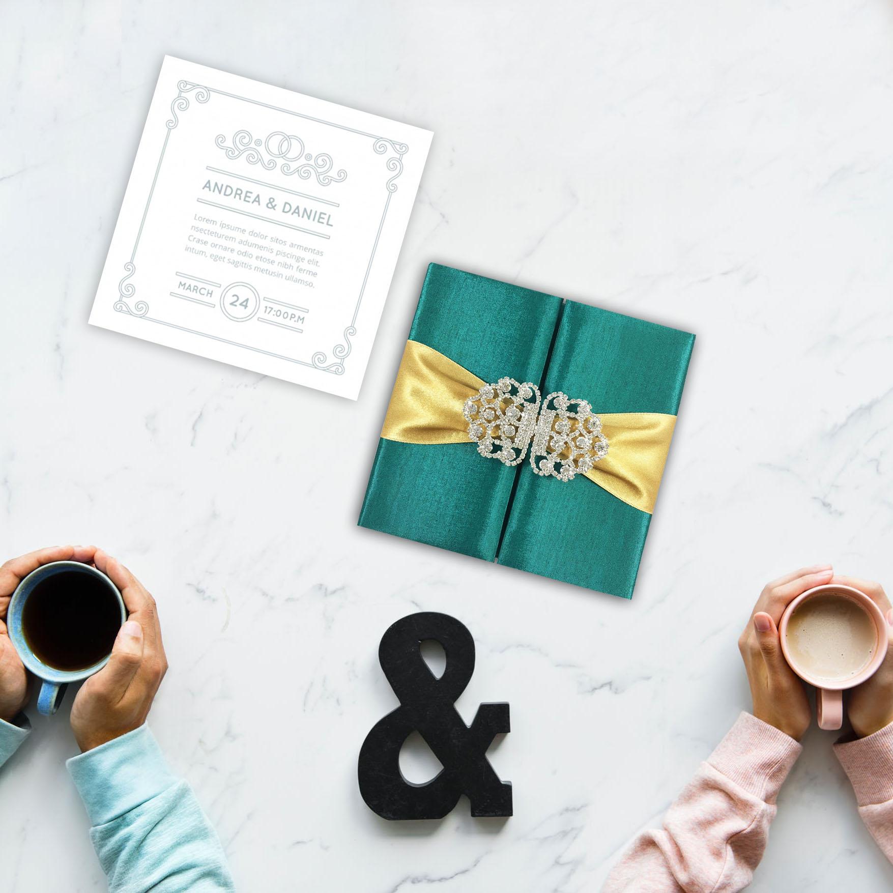handcrafted high-end wedding invitation design by Dennis Wisser
