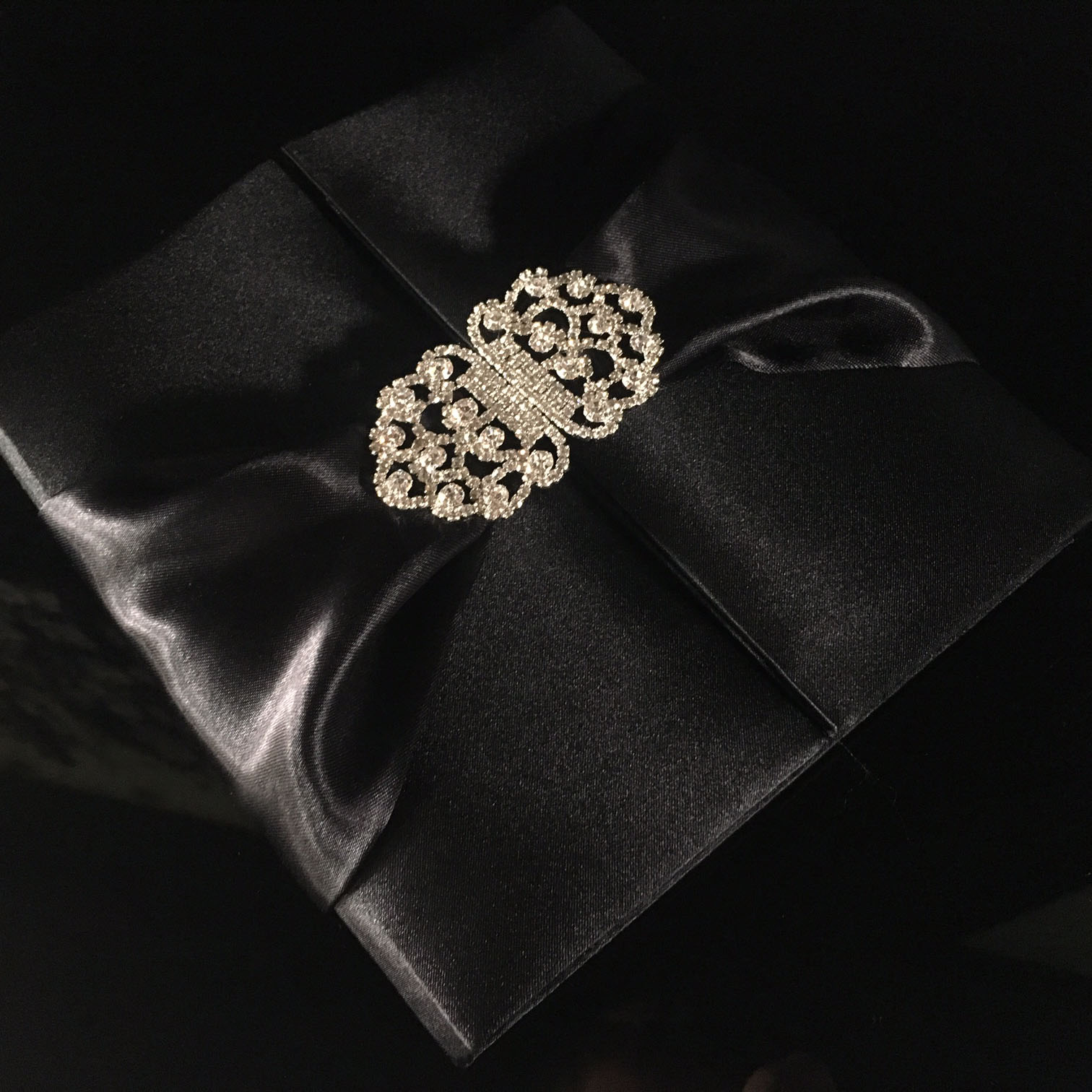 luxury black silk box