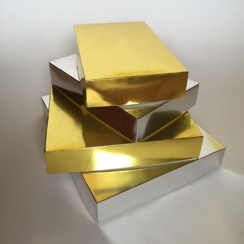 metallic gold packaging boxes