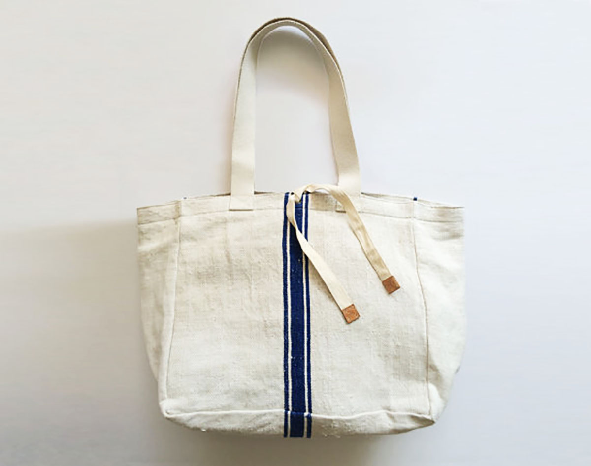 nautical style sailor man hemp shoulder bag