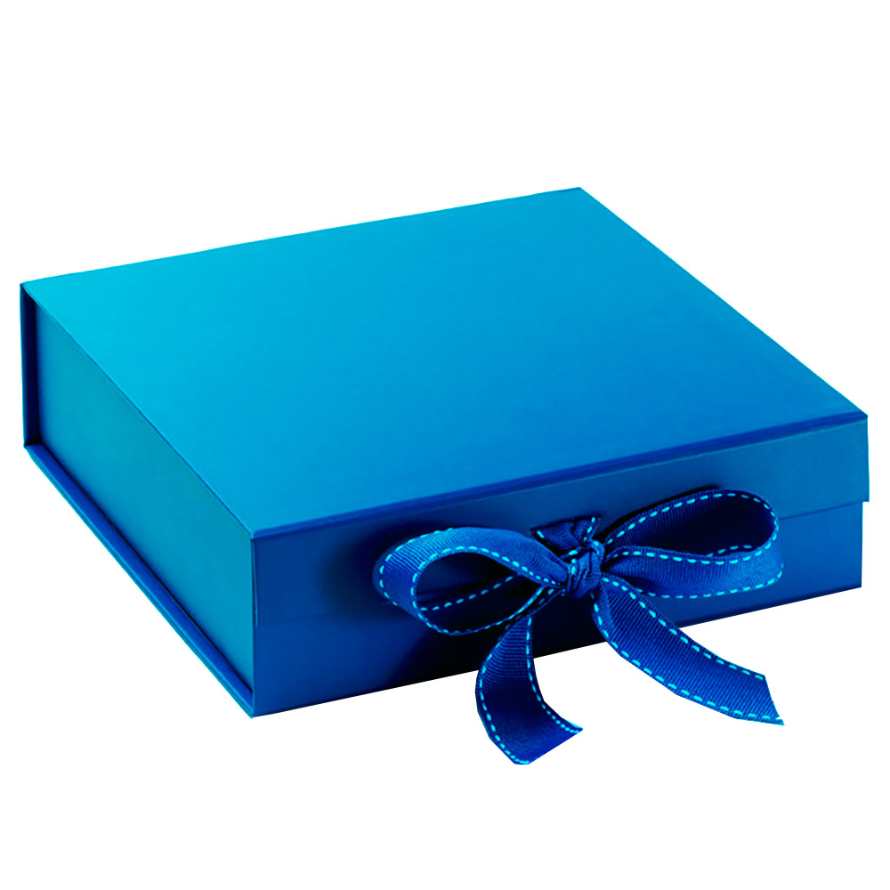 Blue Paper Invitation Box