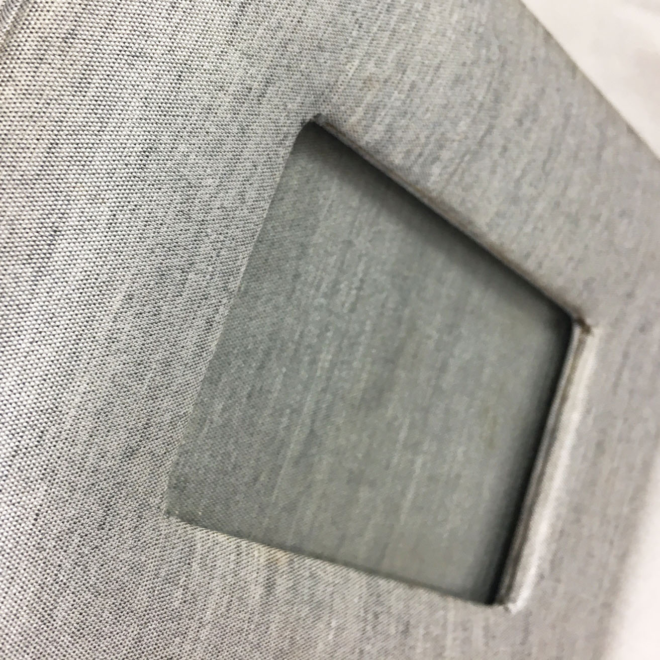 grey silk picture frame
