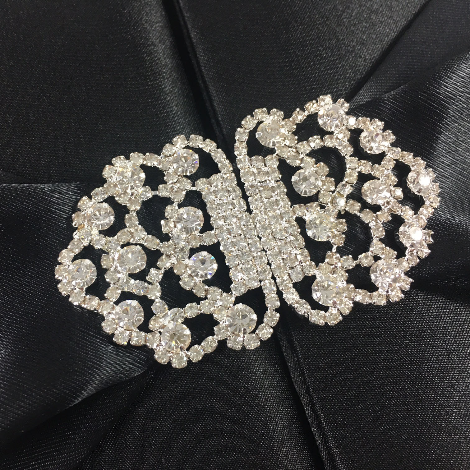 rhinestone pair brooch for wedding invitations