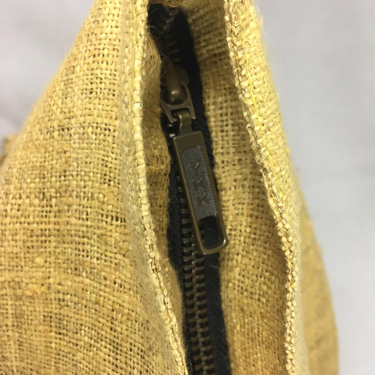 zippered hemp bags