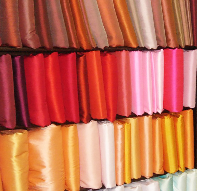 Thai silk fabrics from Chiang Mai