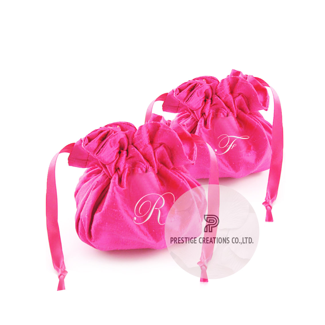 personalized silk drawstring bags
