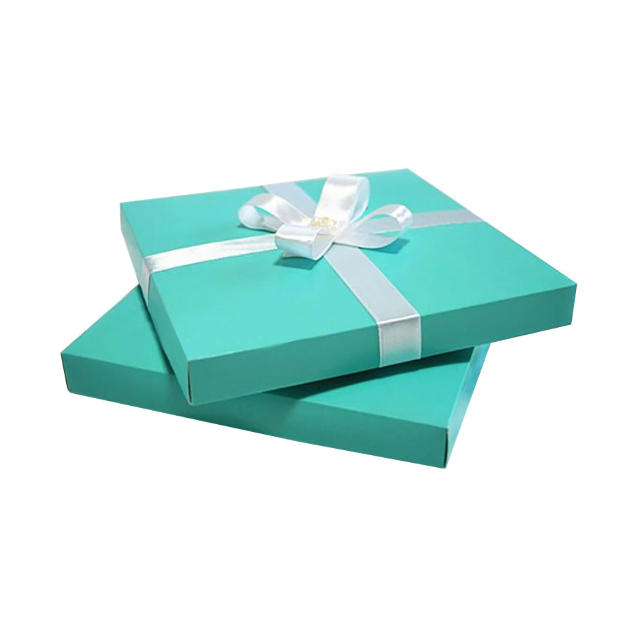 Tiffany Blue Charmeuse Silk Wedding Box