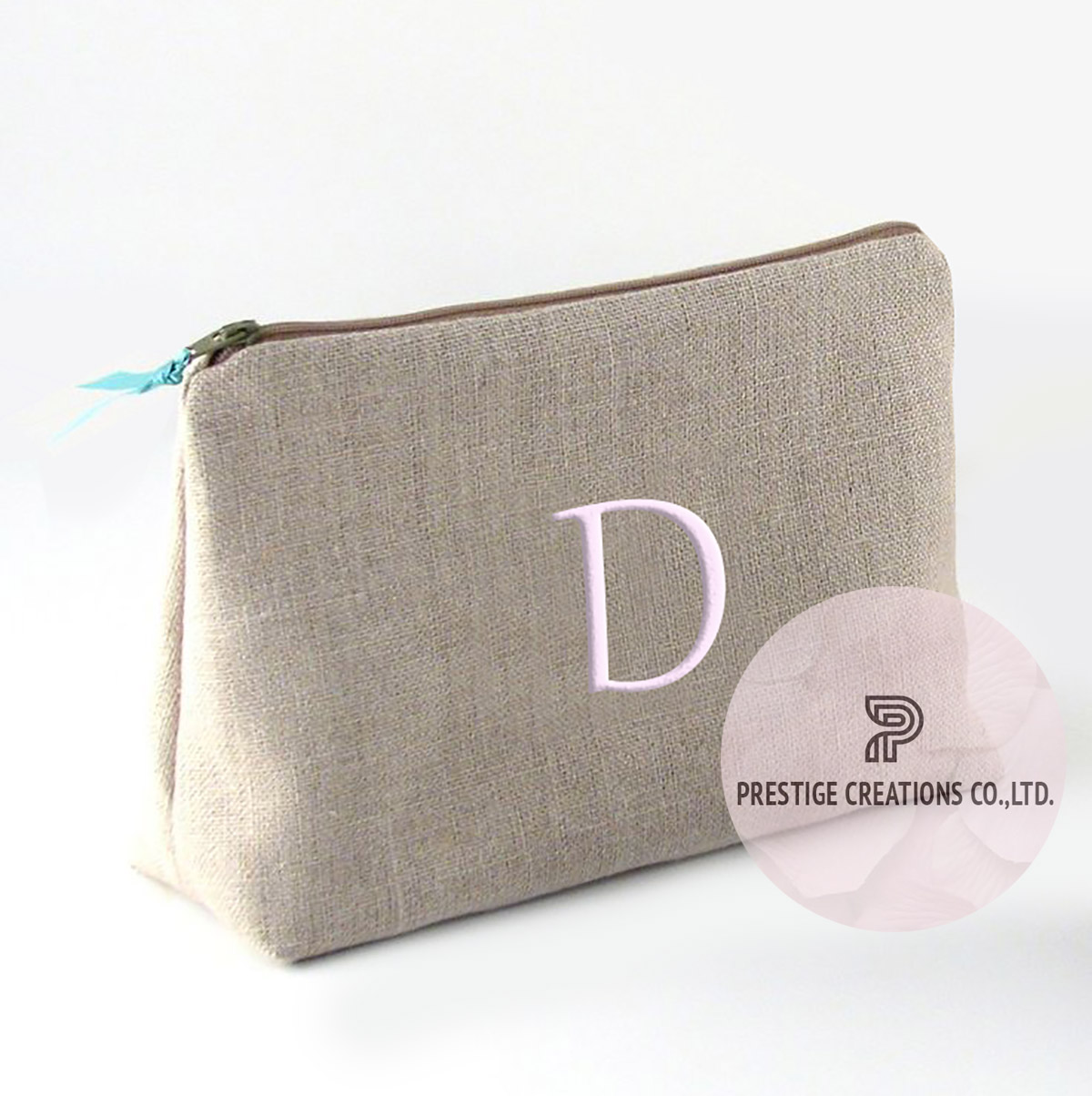 embroidered cotton cosmetic bags