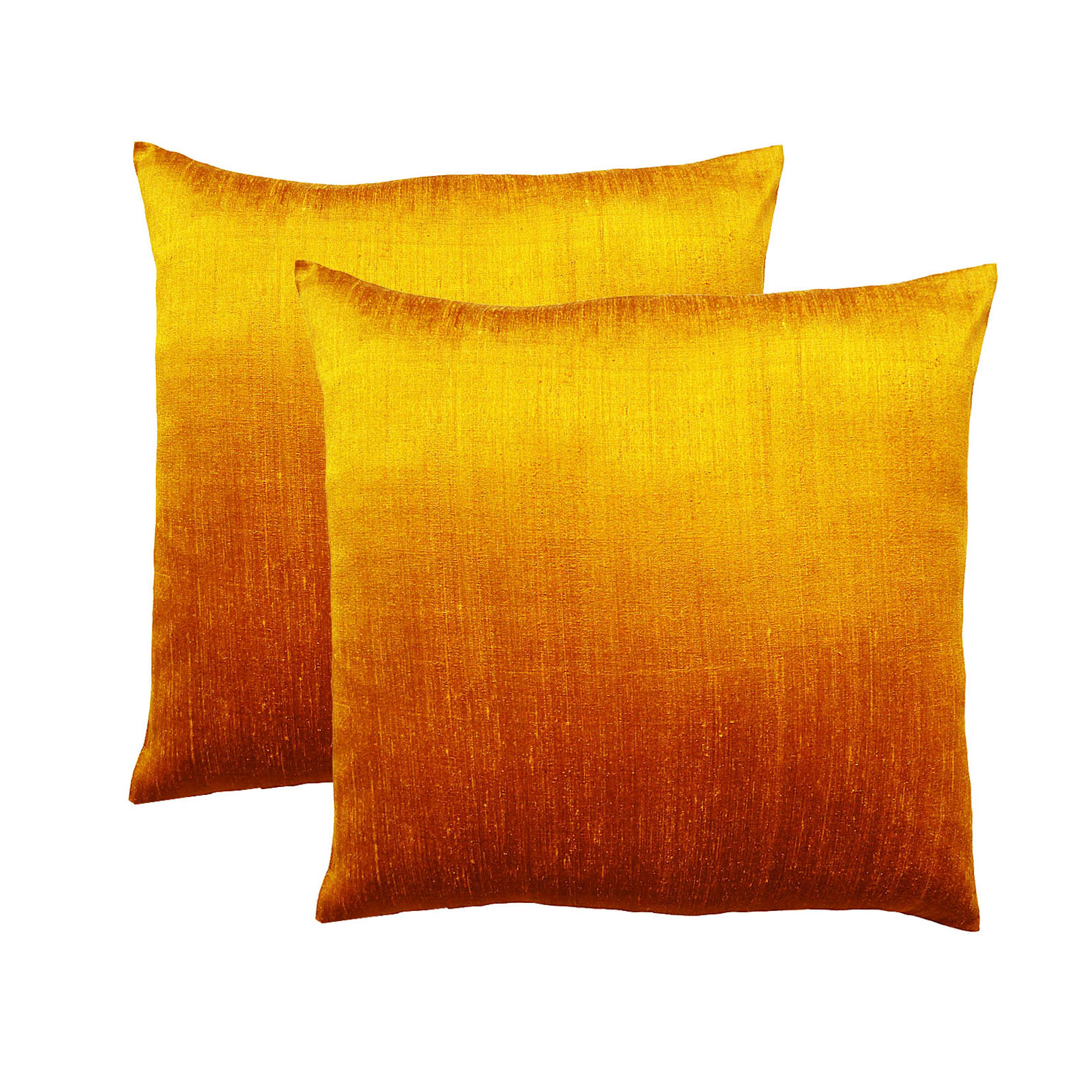 orange Dupioni Silk Pillow Cover