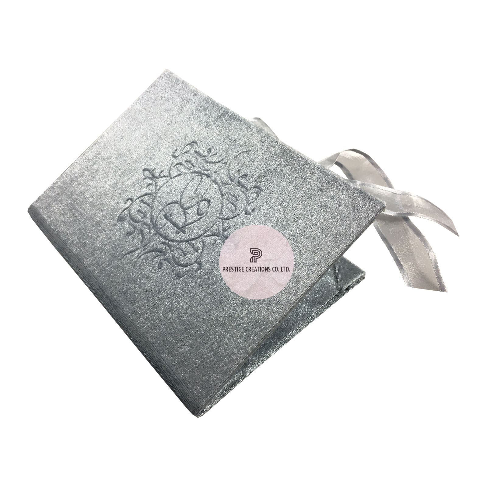embossed monogram invitation