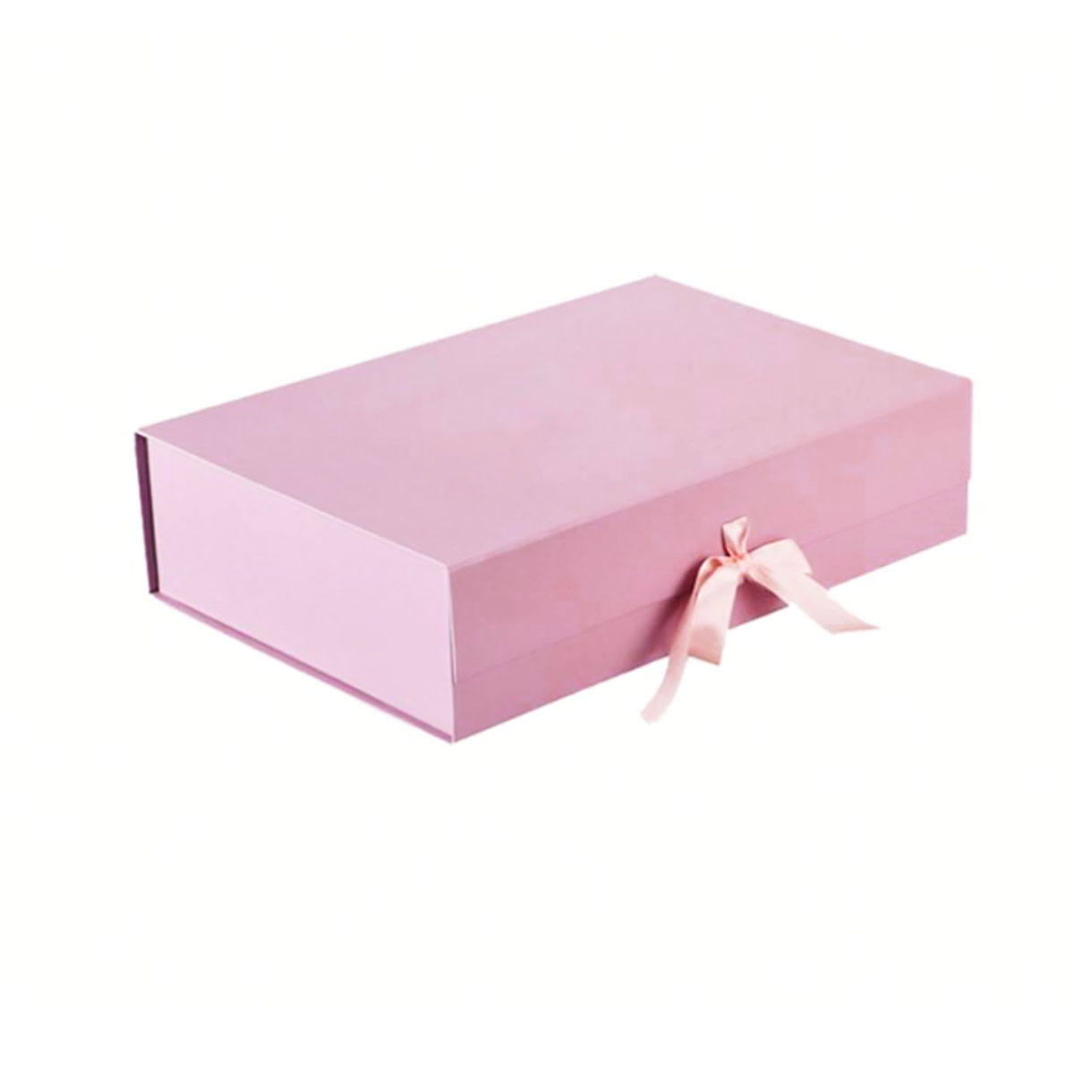 Blush pink wedding invitation box
