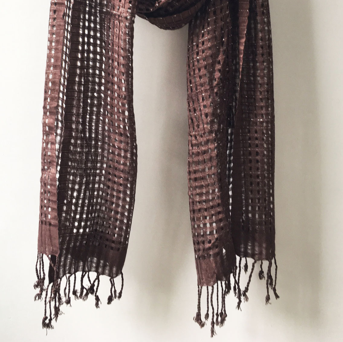 Brown cotton shawl