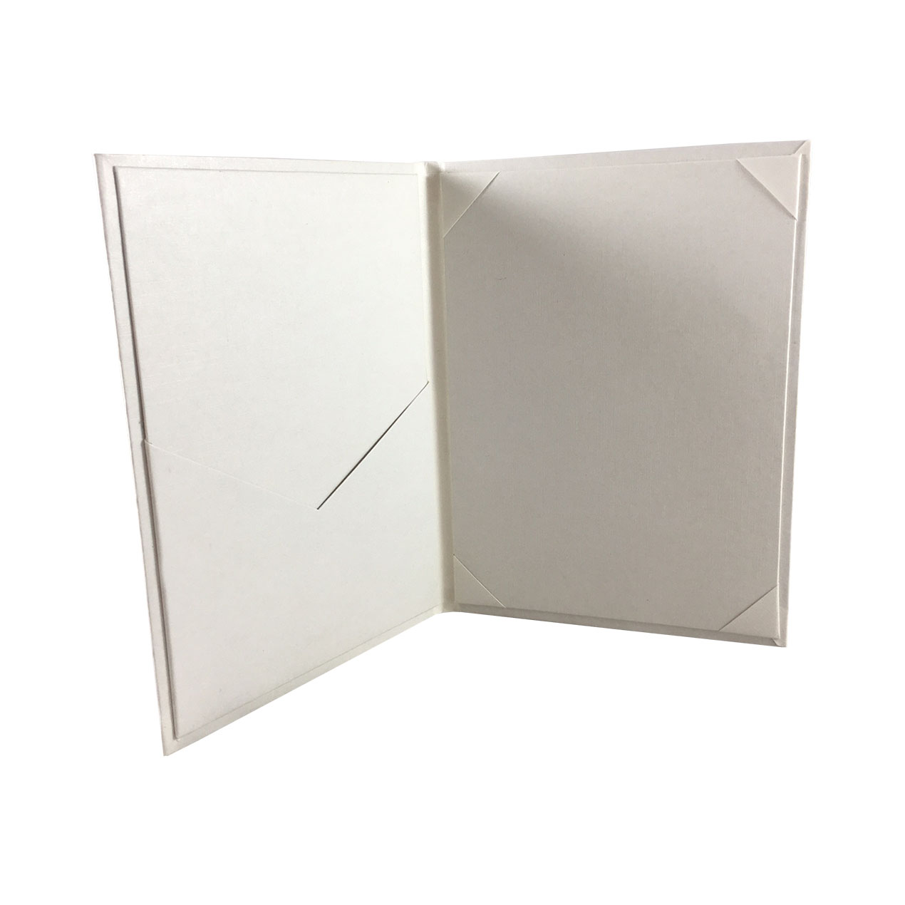 cardboard wedding invitation covered with art paper