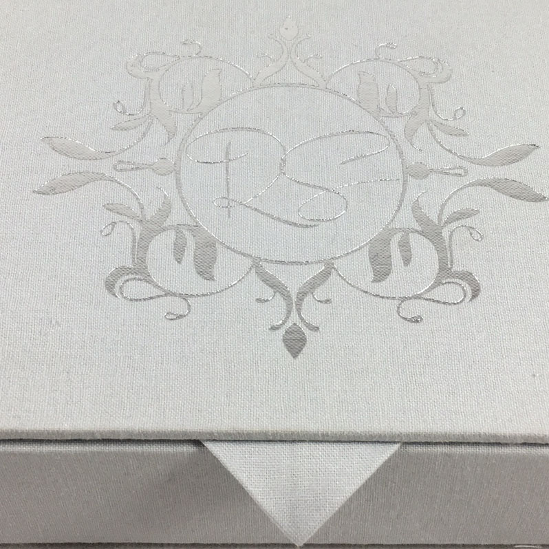 Foil stamped box