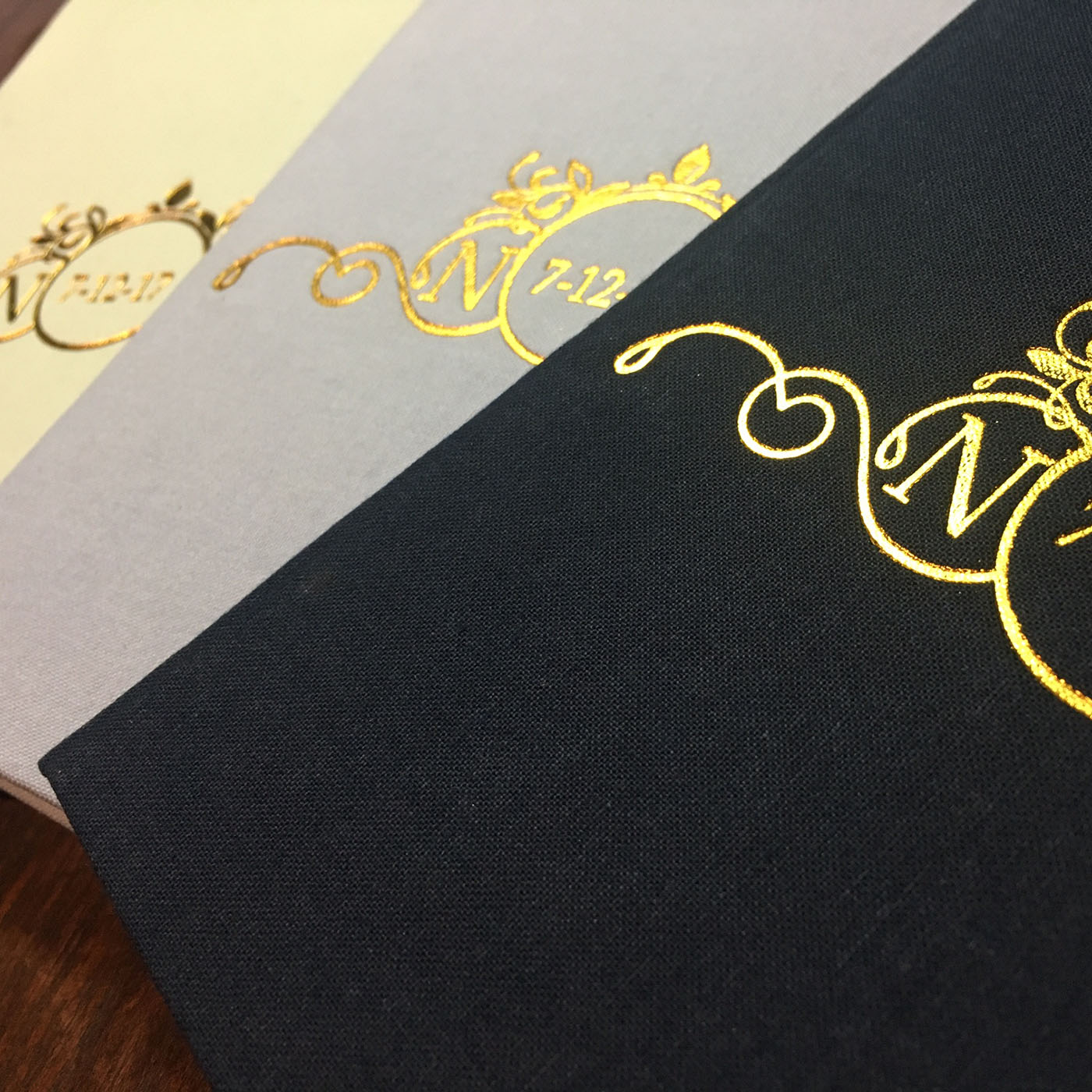 Foil stamped invitations
