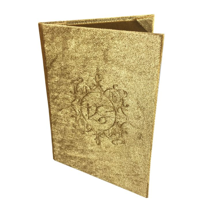 luxury golden monogram embossed velvet invitation design - Luxury Wedding Invitations