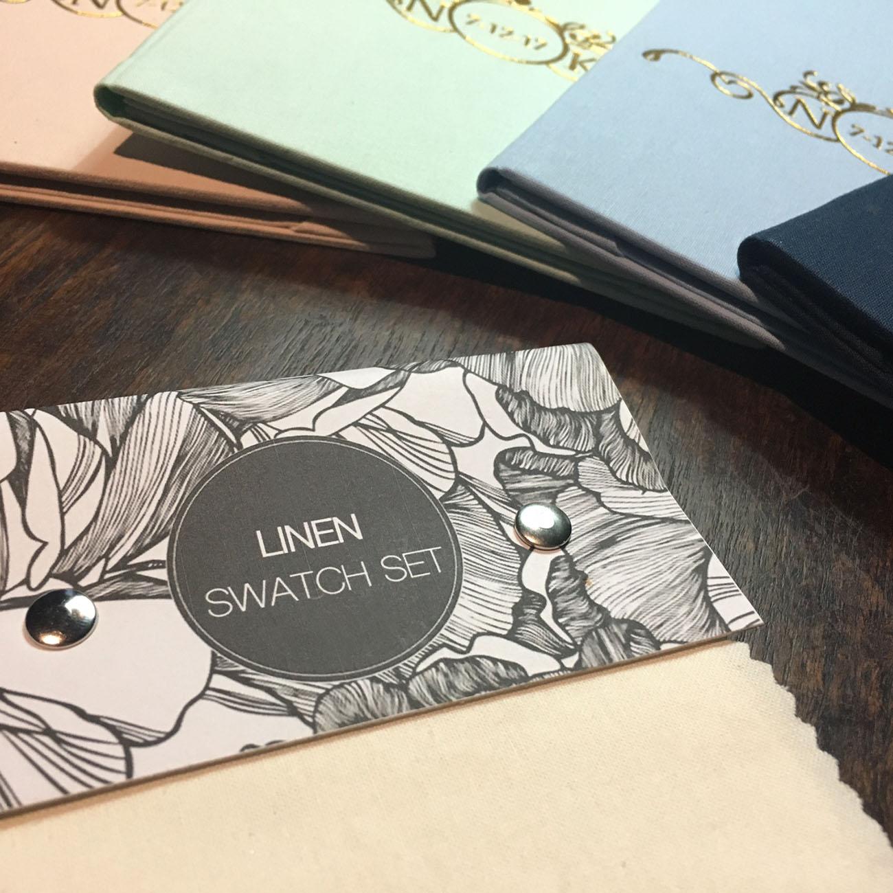 Linen invitation folder