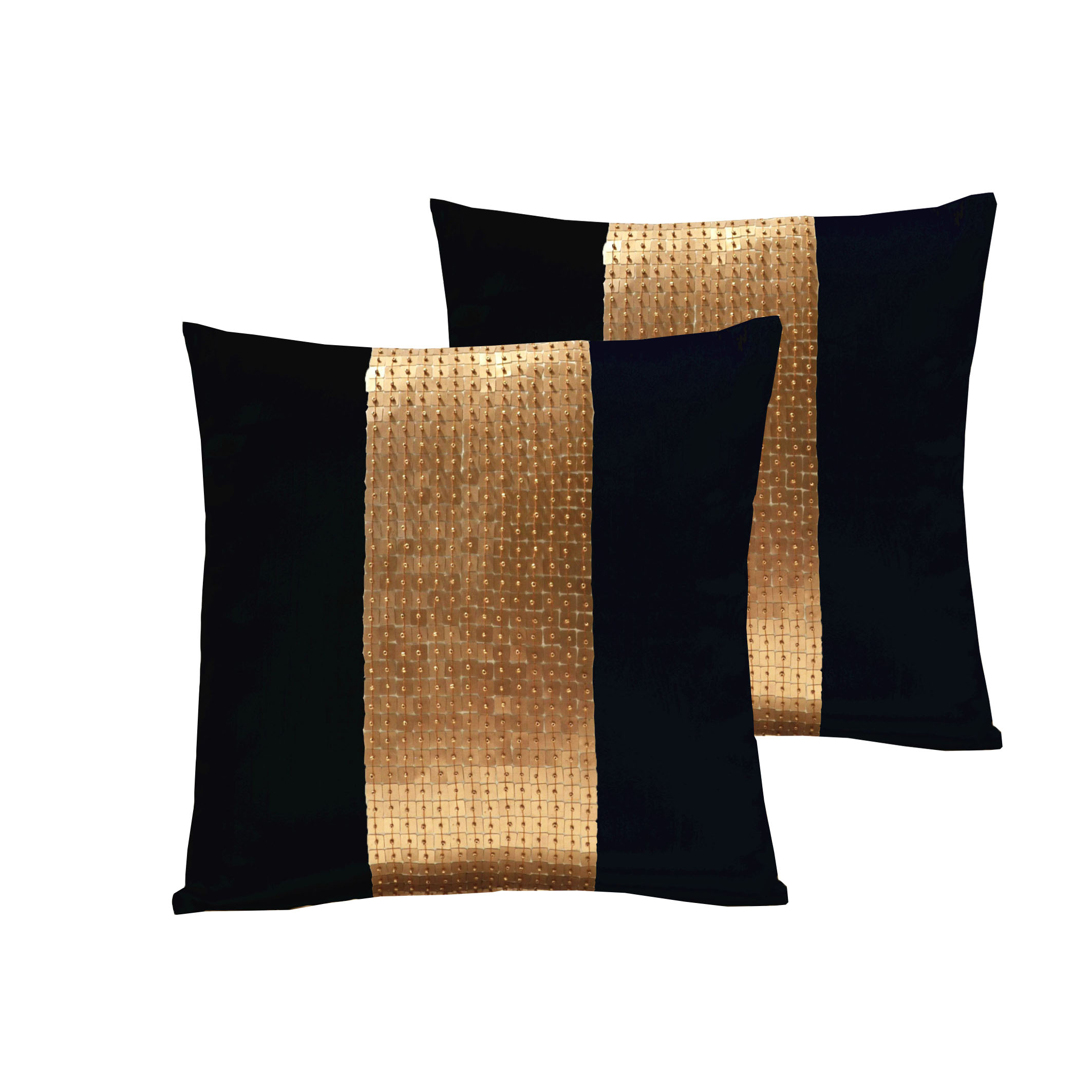 Black cushion cover