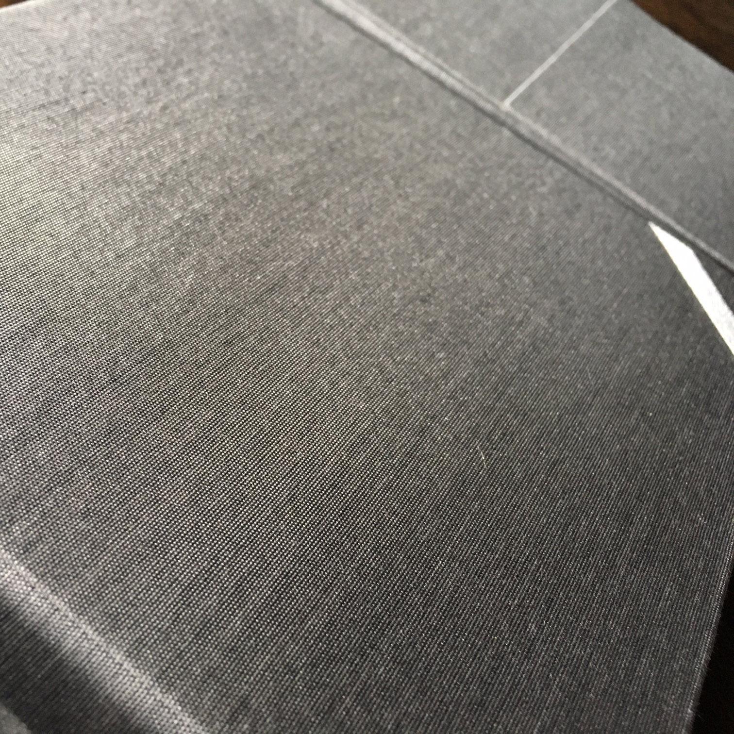 charcoal silk folder