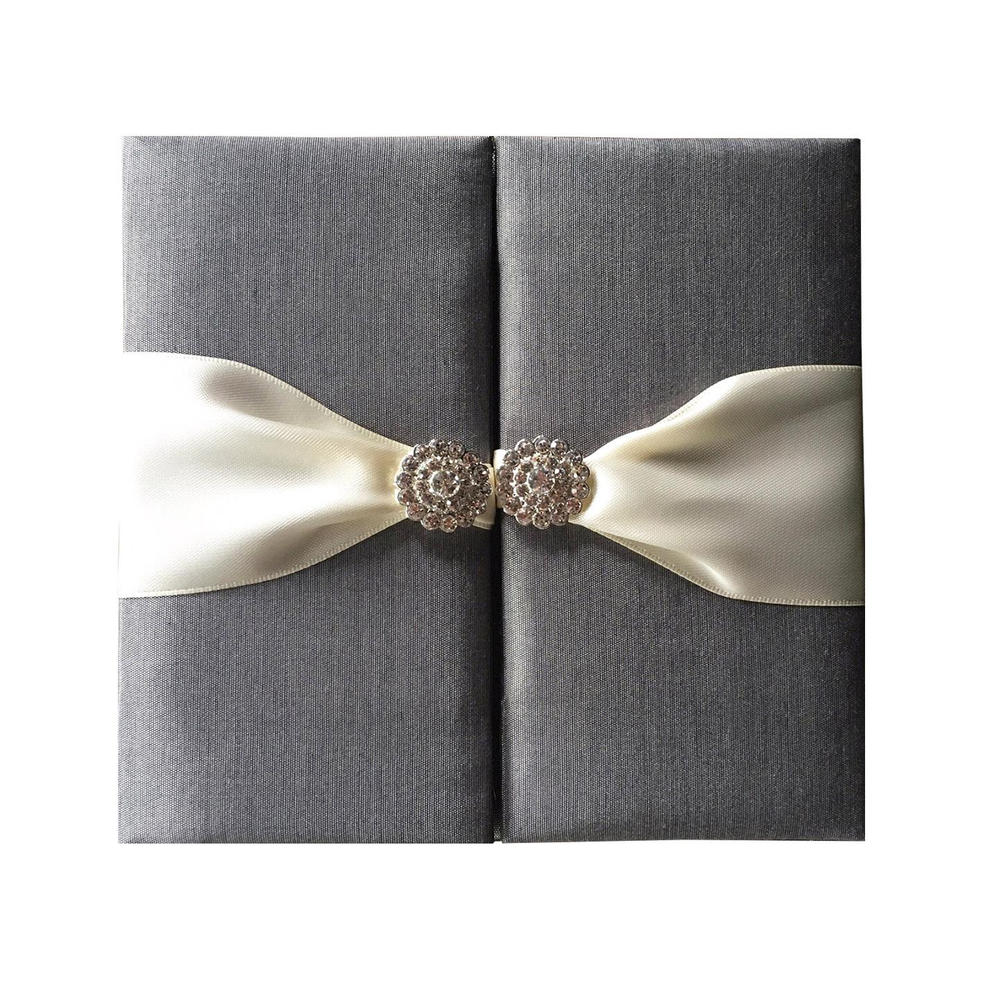 charcoal wedding folder