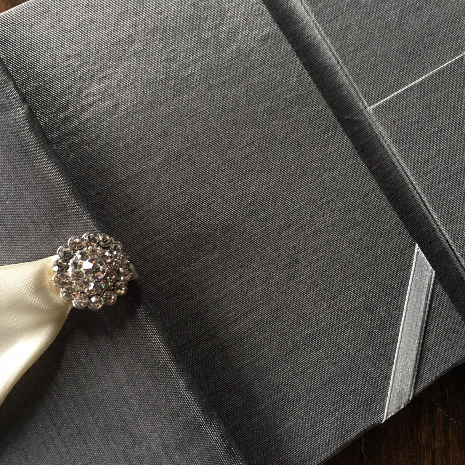 luxury charcoal invites