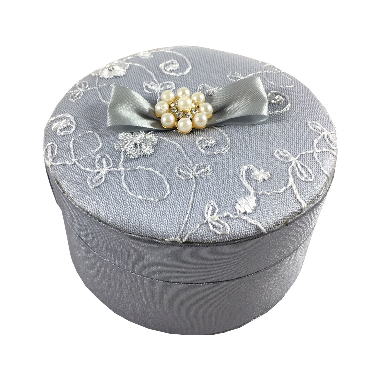 round pearl wedding box