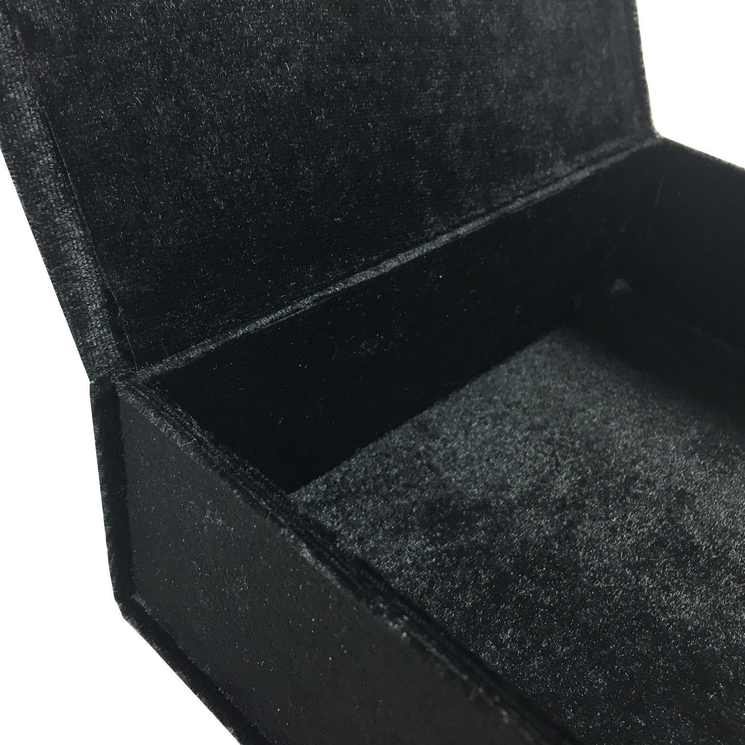 Black velvet packaging box