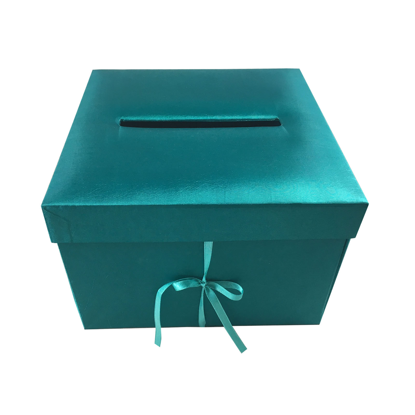 Beautiful Silk Covered Teal Color Wedding Envelope Box - Luxury ...