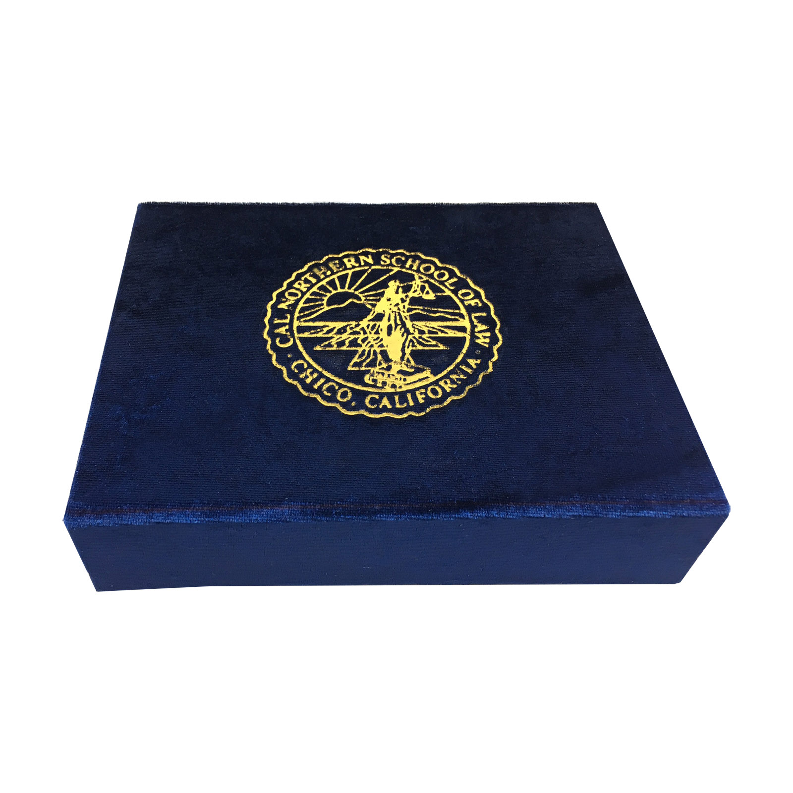 Magnetic velvet logo stamped packaging box