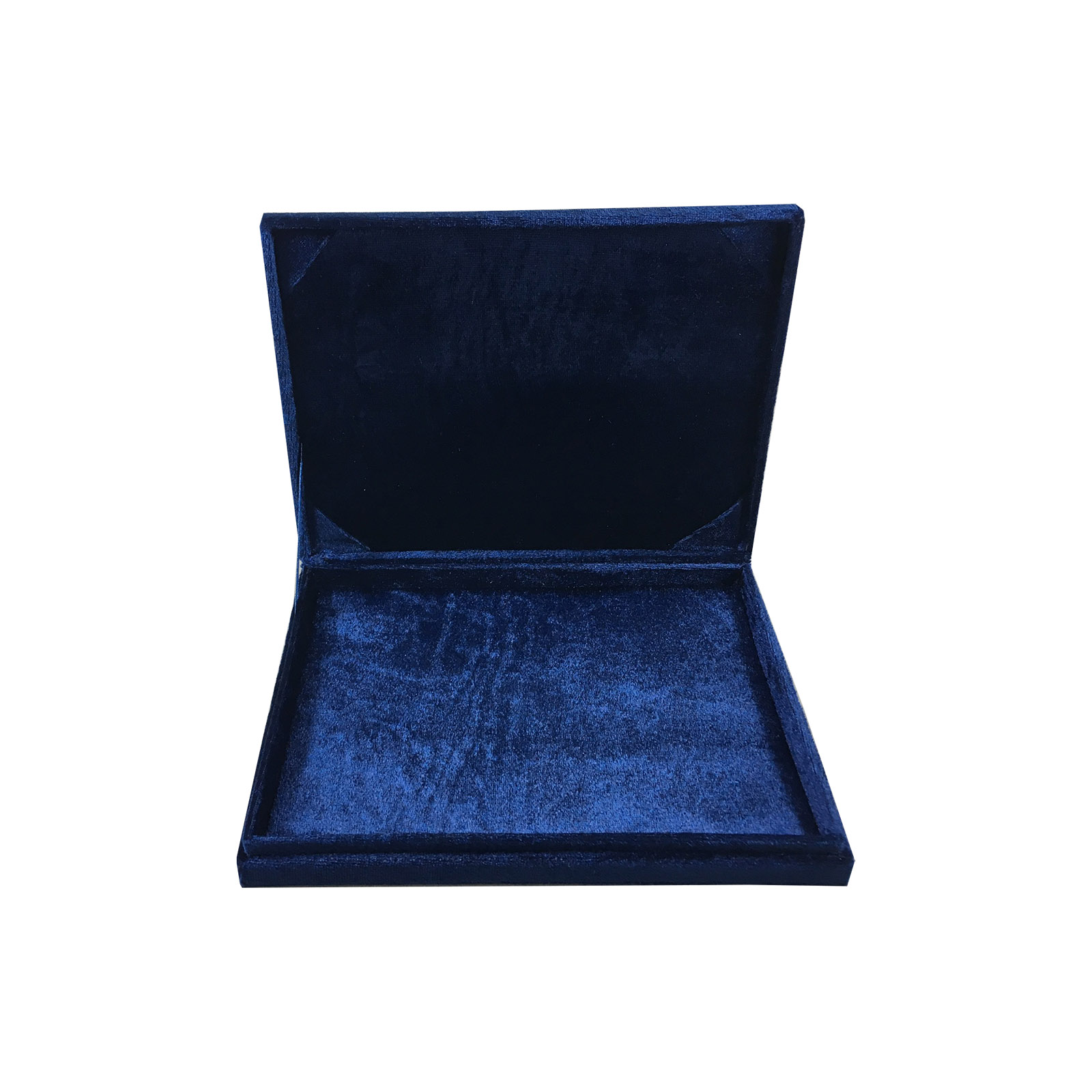 Navy blue velvet wedding box