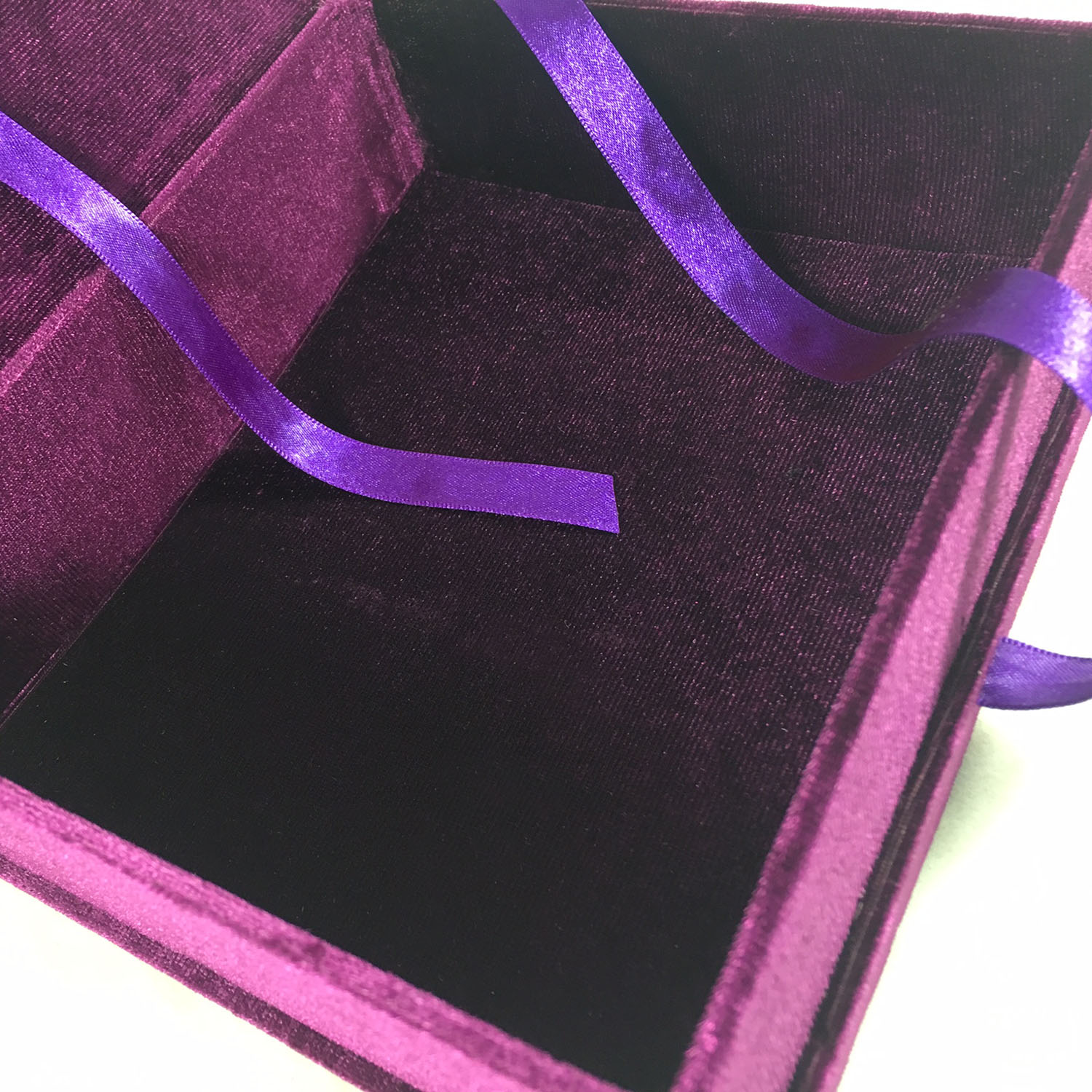 purple velvet box