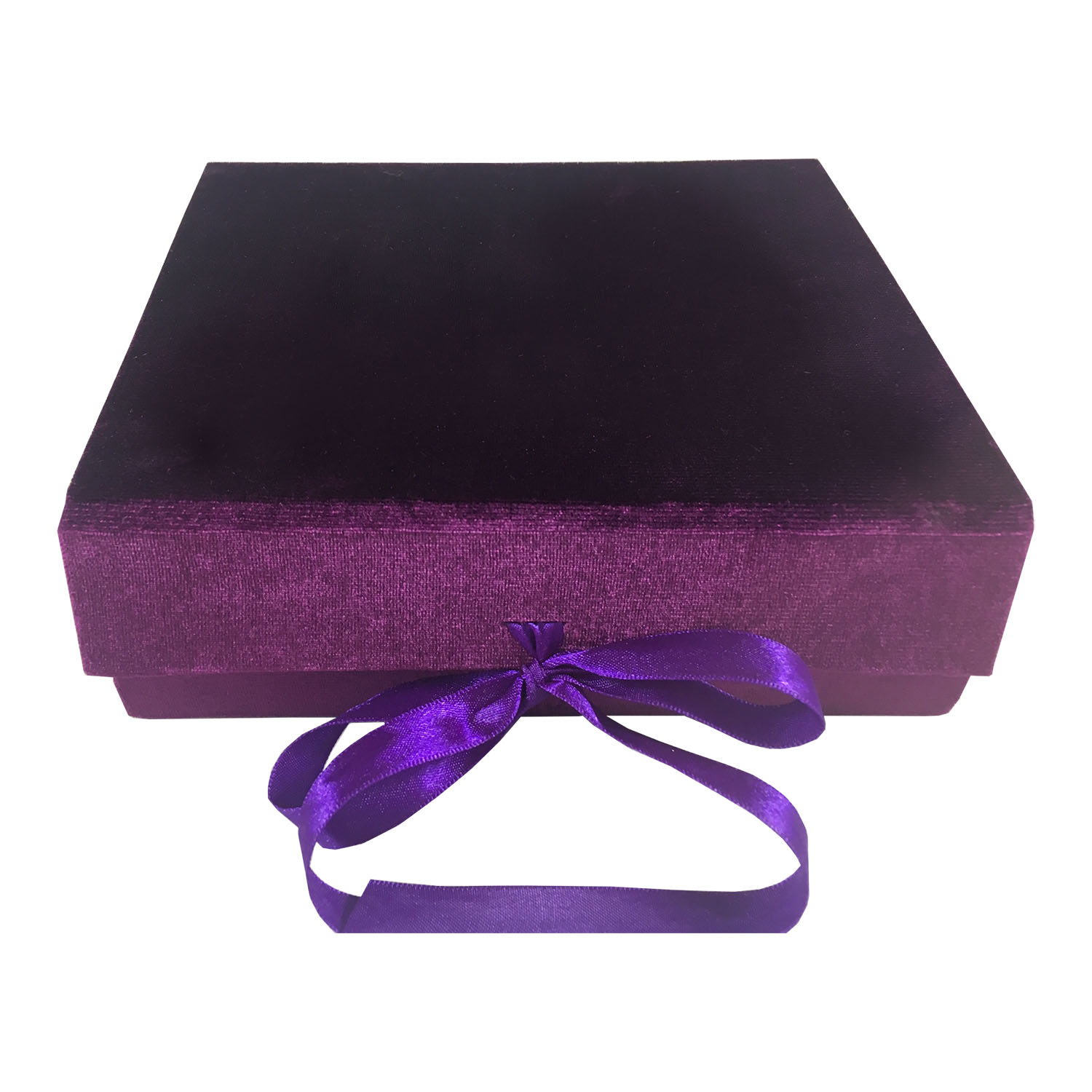 Purple velvet packaging box
