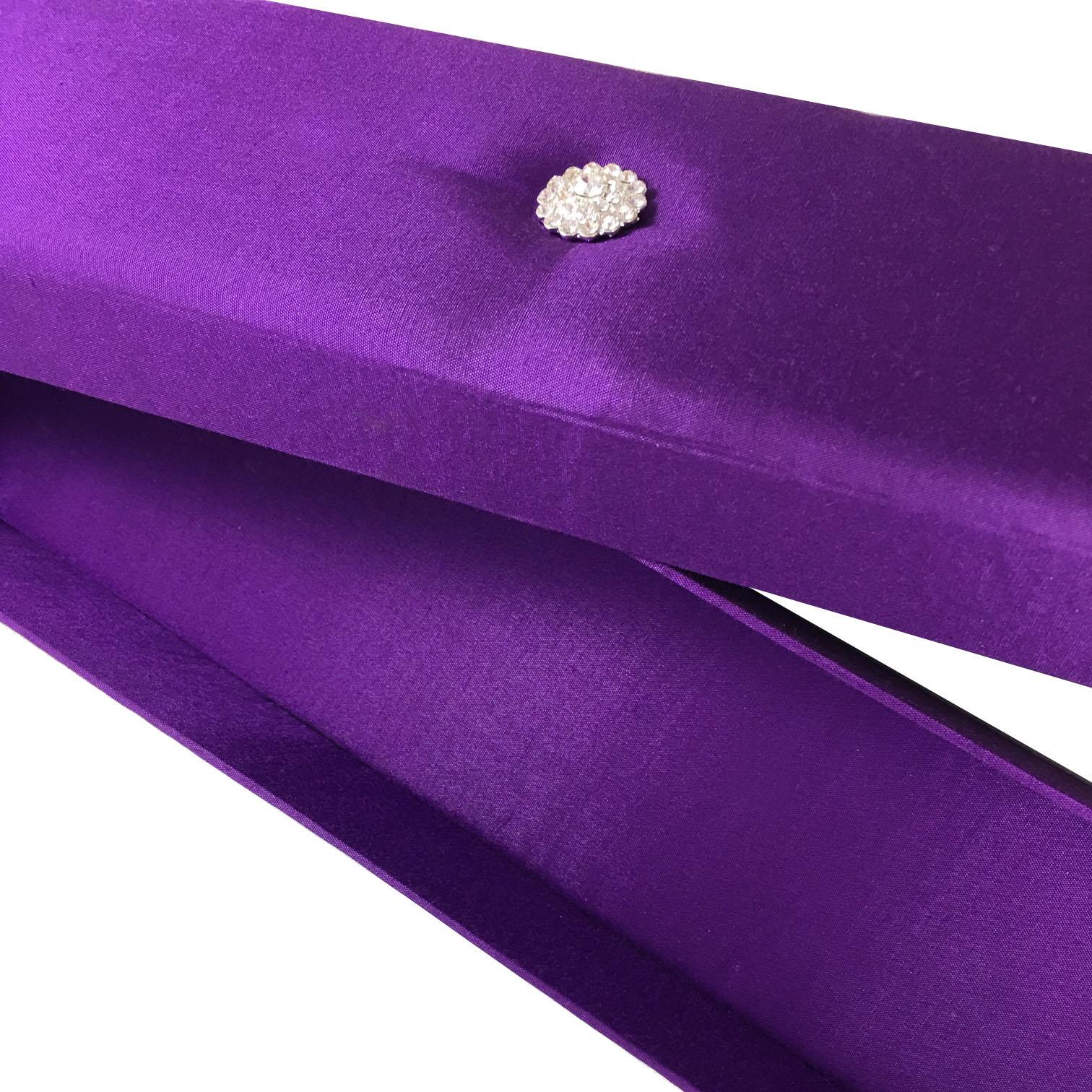purple wedding scroll box with rhinestones
