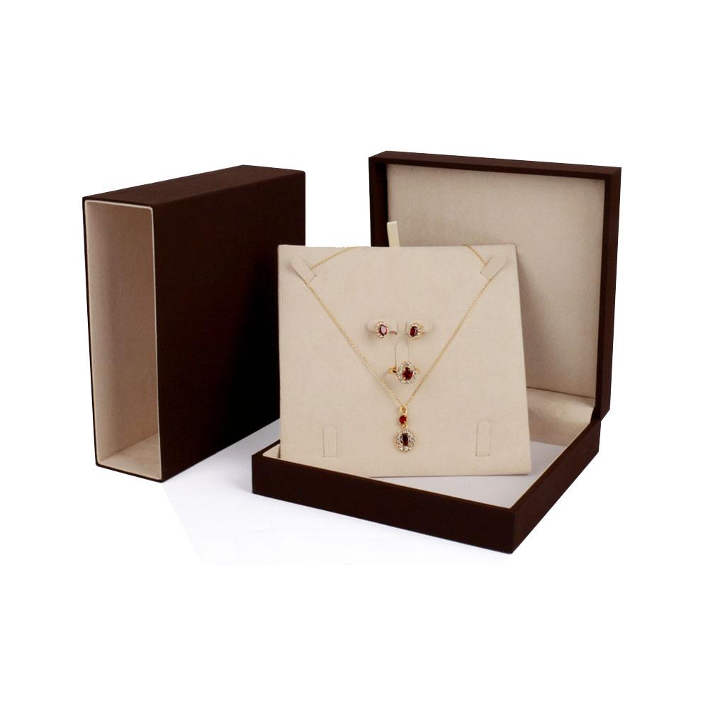 Suede jewellery box