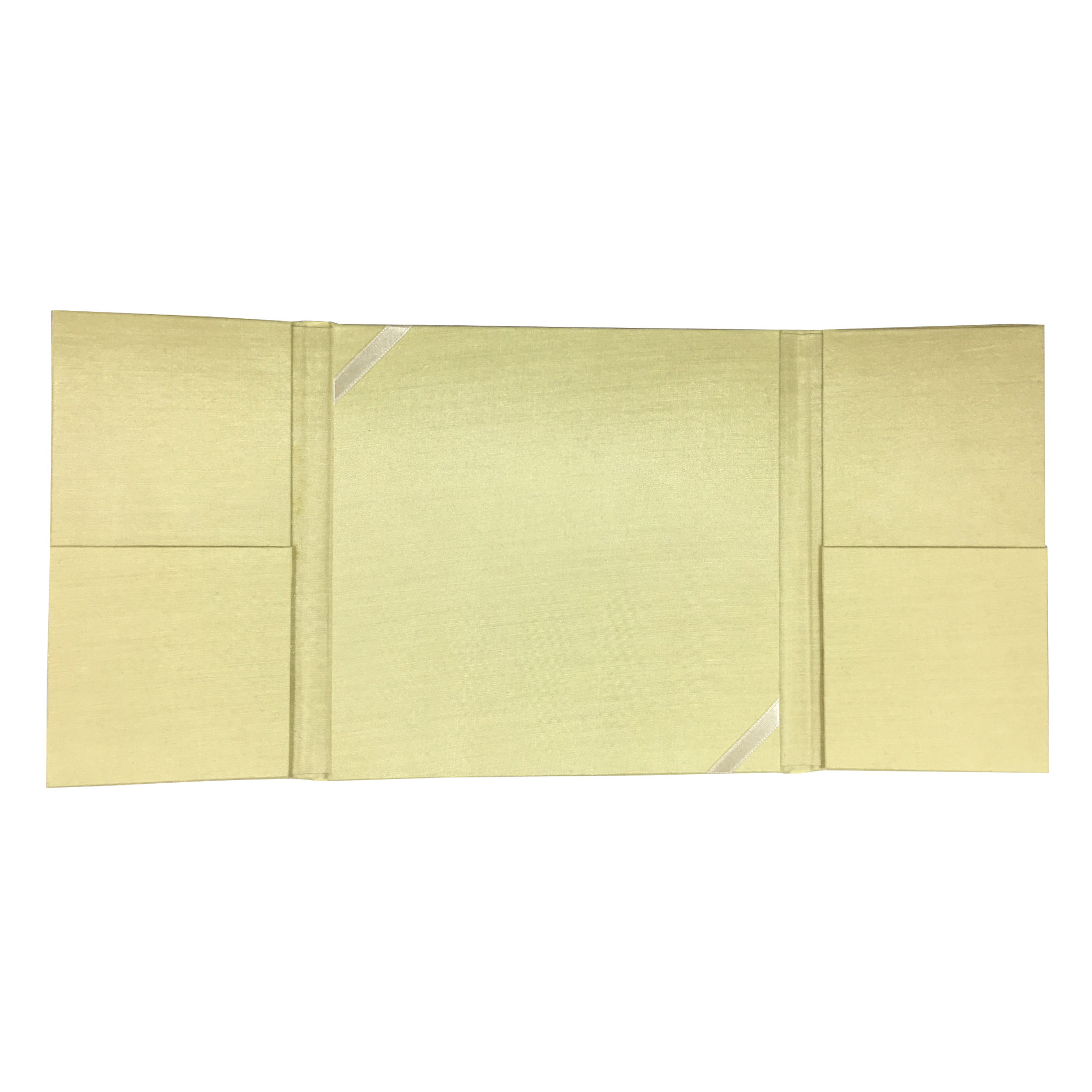 Pastel yellow wedding invitation pocket folder
