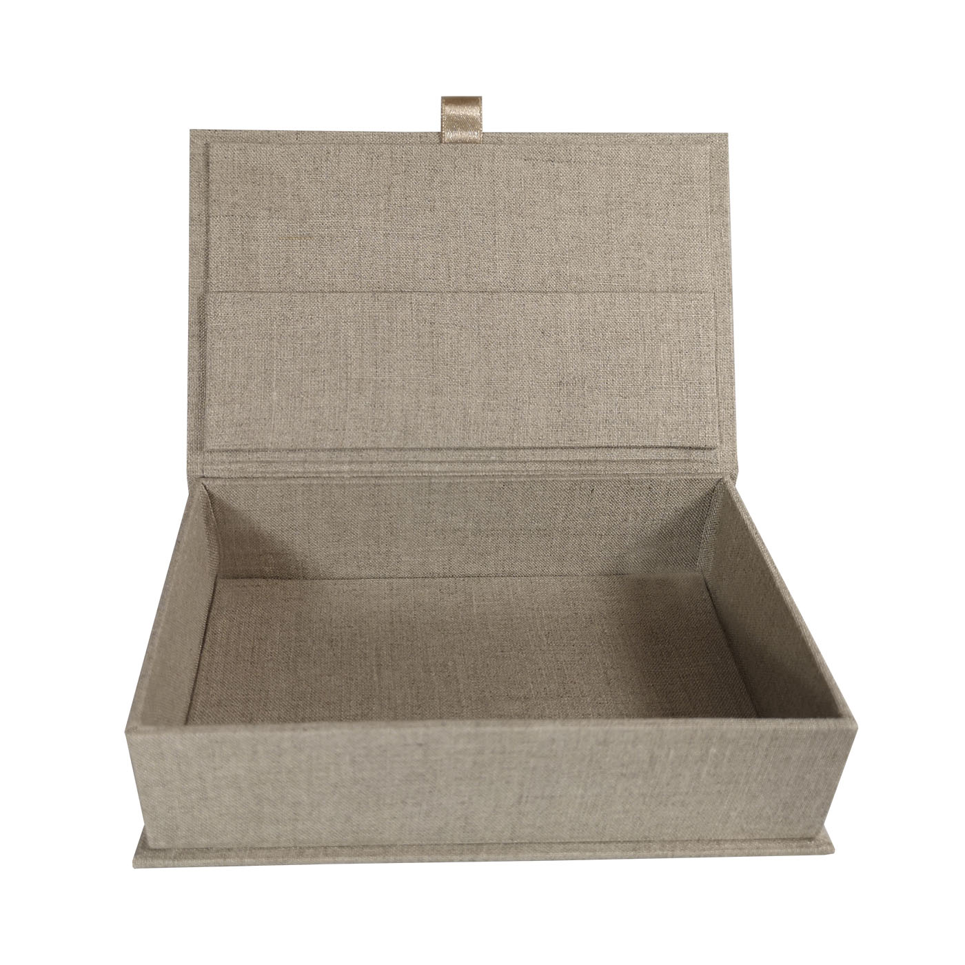 Beige linen box