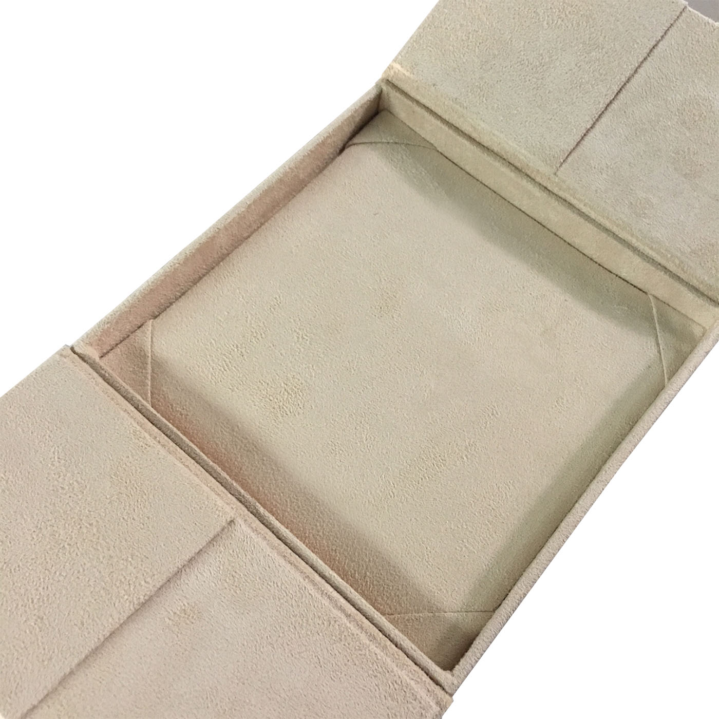 cream suede box
