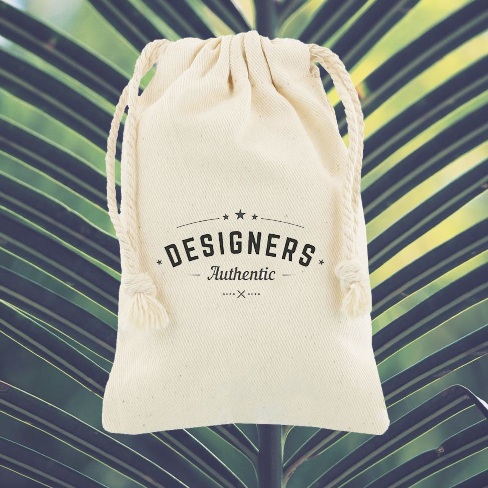 Logo printed cotton drawstring bag for eco bag orders