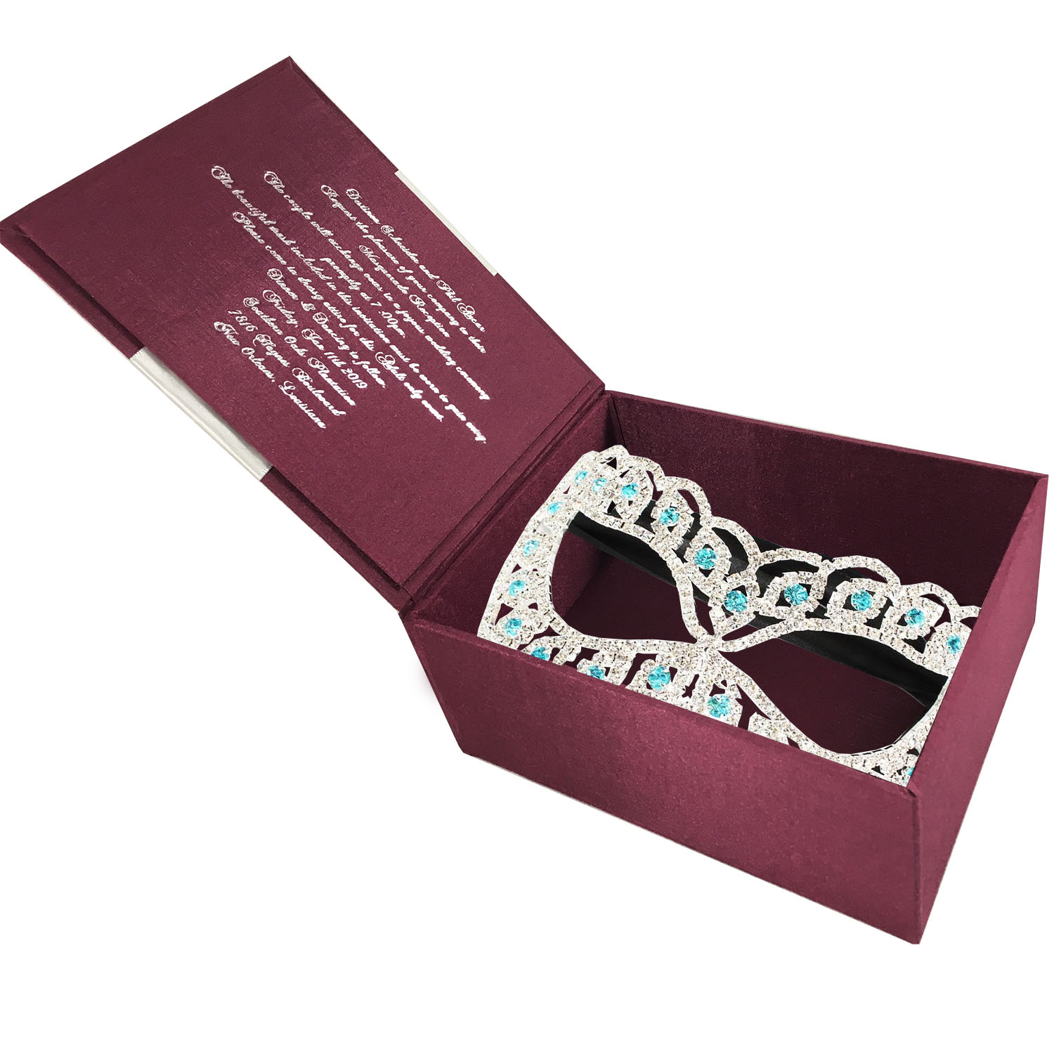 masquerade invitation box