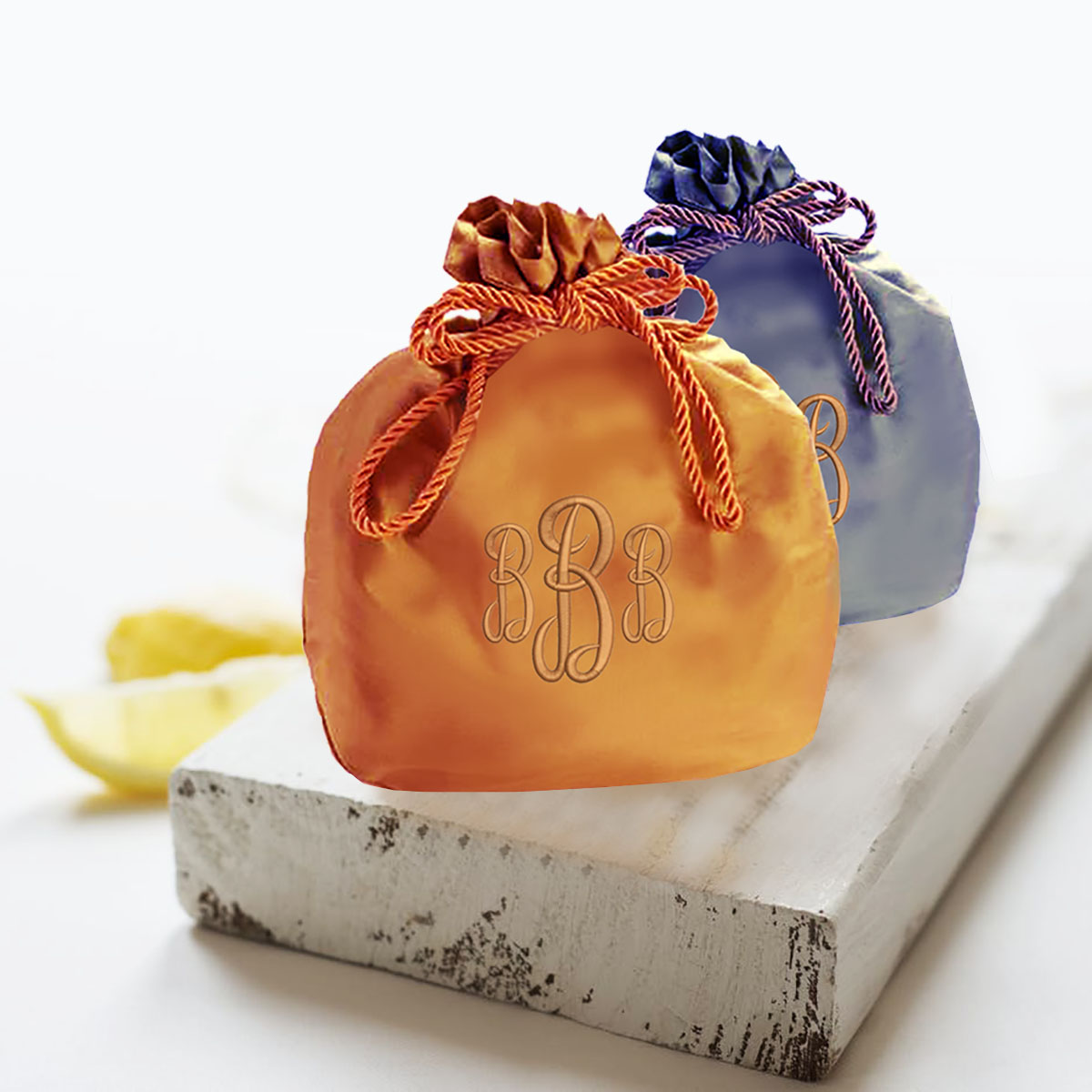 monogram silk bag
