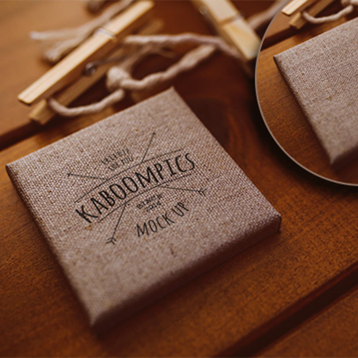 Vintage linen packaging boxes